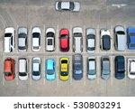 empty parking lots  aerial view.   Shutterstock . vector #530803291