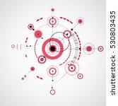 modular bauhaus vector red... | Shutterstock .eps vector #530803435