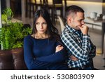 couple at cafe during lunch.... | Shutterstock . vector #530803909