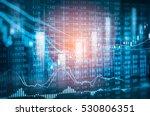 stock market or forex trading... | Shutterstock . vector #530806351