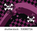 background with skull cartoon... | Shutterstock .eps vector #53080726