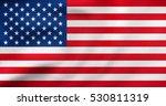 american national official flag.... | Shutterstock . vector #530811319