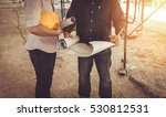 two business man construction... | Shutterstock . vector #530812531