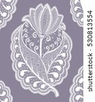 curly flower patterns. lace... | Shutterstock . vector #530813554