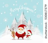 christmas greeting card with... | Shutterstock .eps vector #530817379