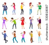 singing characters isolated on...   Shutterstock .eps vector #530818087