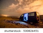 Photo Picture of a Camping in the night - stock photo