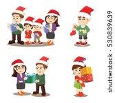 family cristmas again cartoon... | Shutterstock .eps vector #530839639