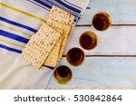 jewish holiday hannukahb wine... | Shutterstock . vector #530842864