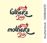 happy mother father day theme | Shutterstock . vector #530844655