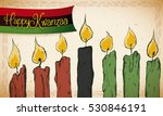 old style banner with lighted... | Shutterstock .eps vector #530846191
