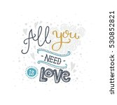 valentines day card with... | Shutterstock .eps vector #530852821