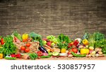organic vegetables and fruits | Shutterstock . vector #530857957