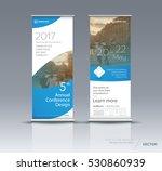 blue roll up banner design... | Shutterstock .eps vector #530860939