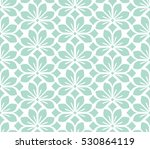 seamless abstract floral... | Shutterstock . vector #530864119