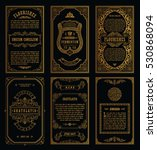 vintage golden vector set retro ... | Shutterstock .eps vector #530868094