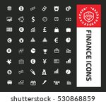 finance icon set clean vector | Shutterstock .eps vector #530868859