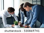 startup business team on... | Shutterstock . vector #530869741