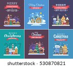 new year and christmas greeting ... | Shutterstock .eps vector #530870821