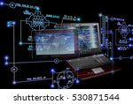 innovative computer and... | Shutterstock . vector #530871544