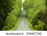 Rural Highway Through Lush...