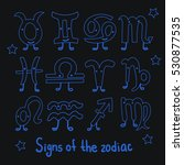 set signs of the zodiac.... | Shutterstock .eps vector #530877535