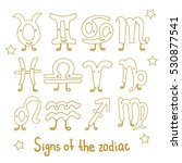 set signs of the zodiac.... | Shutterstock .eps vector #530877541