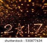 happy new years 2017 fireworks... | Shutterstock . vector #530877634