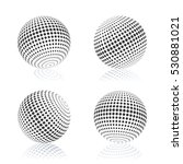 gray sphere with halftone fill... | Shutterstock .eps vector #530881021
