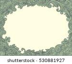 victorian baroque floral... | Shutterstock .eps vector #530881927
