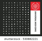 universal web icon set clean... | Shutterstock .eps vector #530882221