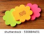 adhd  health concept | Shutterstock . vector #530884651