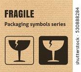 fragile or breakable material... | Shutterstock .eps vector #530888284