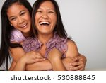 mother and daughter | Shutterstock . vector #530888845