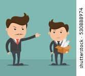 employees getting fired by boss ...   Shutterstock .eps vector #530888974