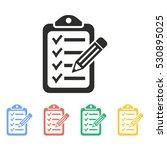 clipboard pencil vector icon....   Shutterstock .eps vector #530895025