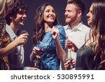 people dancing and having fun... | Shutterstock . vector #530895991