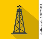 oil rig icon. flat illustration ... | Shutterstock .eps vector #530898394