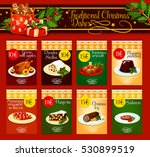 christmas dinner menu template... | Shutterstock .eps vector #530899519