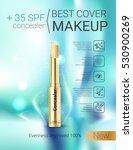 concealer stick ads. vector... | Shutterstock .eps vector #530900269