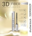 3d mascara ads. vector... | Shutterstock .eps vector #530900329