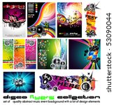 11 abstract music background... | Shutterstock .eps vector #53090044