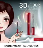 3d mascara ads. vector... | Shutterstock .eps vector #530900455