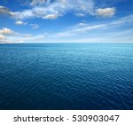 blue sea water surface on sky | Shutterstock . vector #530903047