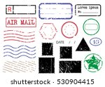 blank postal stamps set... | Shutterstock .eps vector #530904415