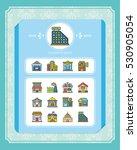 icon set building vector | Shutterstock .eps vector #530905054