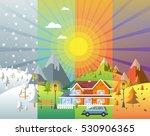 landscape design set with... | Shutterstock .eps vector #530906365