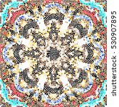 mosaic colorful artistic... | Shutterstock . vector #530907895