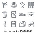 office workspace  icon outlined ... | Shutterstock .eps vector #530909041