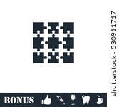 puzzle icon flat. vector... | Shutterstock .eps vector #530911717